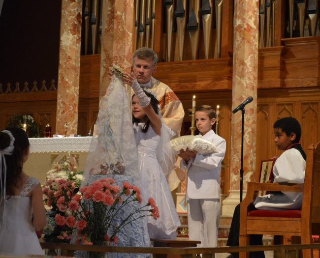 MAY CROWNING AT ST. THERESA CHURCH TRUMBULL