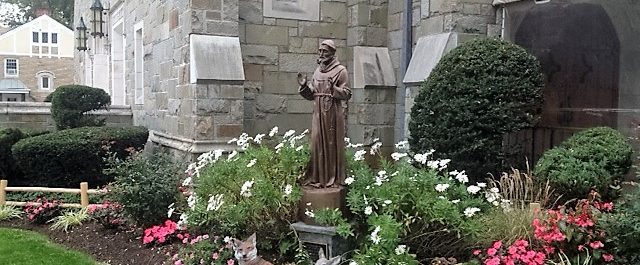 ST. FRANCIS OF ASSISI STATUE AT ST THERESA CHURCH