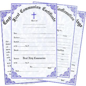 Sacramental Certificates