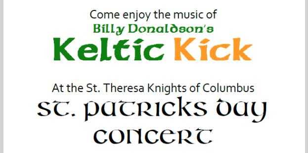 St. Patrick Concert featuring Keltic Kick