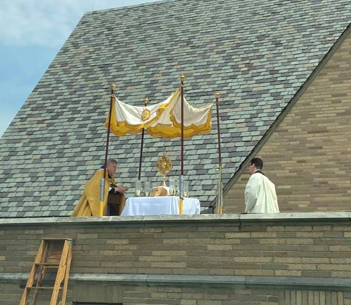 EASTER SUNDAY ROOFTOP BLESSING AT ST. THERESA CHURCH TRUMBULL CT