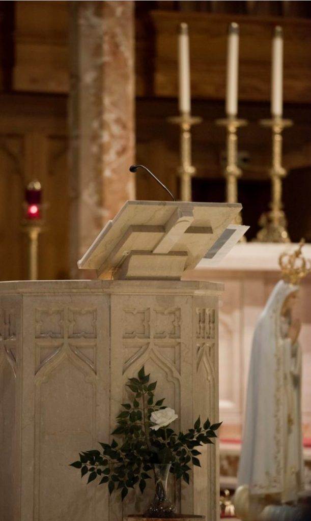 LECTERN AT ST. THERESA CHURCH TRUMBULL