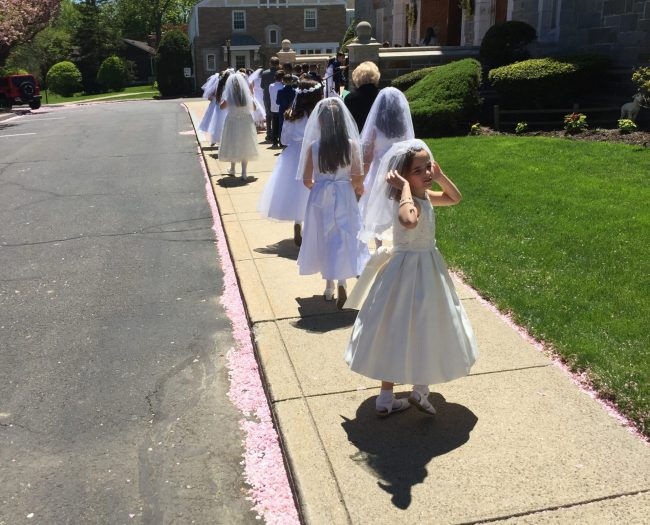 FIRST HOLY COMMUNION ST THERESA CHURCH TRUMBULL