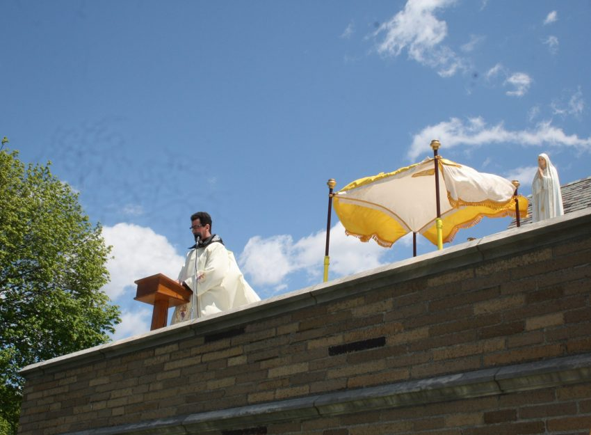FATHER FLAVIAN ROOFTOP ADORATION MOTHER'S DAY