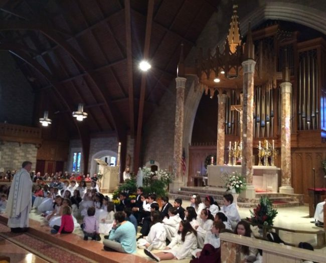 FAMILY MASS AT ST. THERESA CHURCH TRUMBULL CT