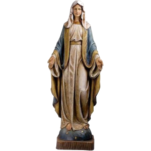 TRAVELING STATUE OUR LADY OF GRACE LEGION OF MARY ST THERESA CHURCH
