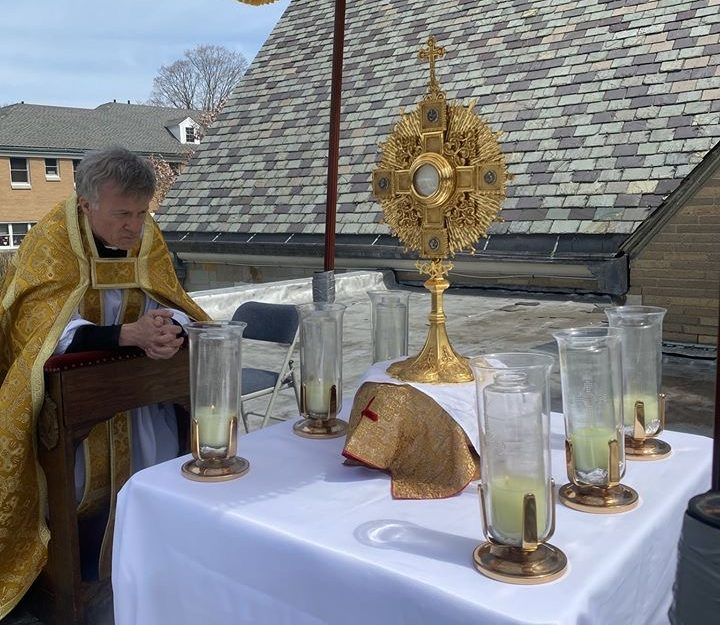 EASTER SUNDAY ROOFTOP ADORATION AT ST. THERESA CHURCH