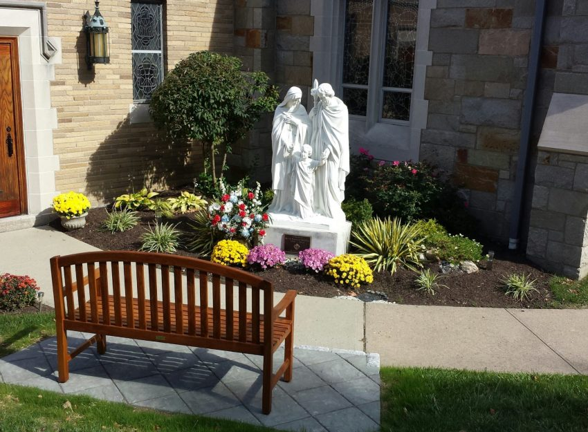 HOLY FAMILY STATUE AT ST. THERESA CHURCH