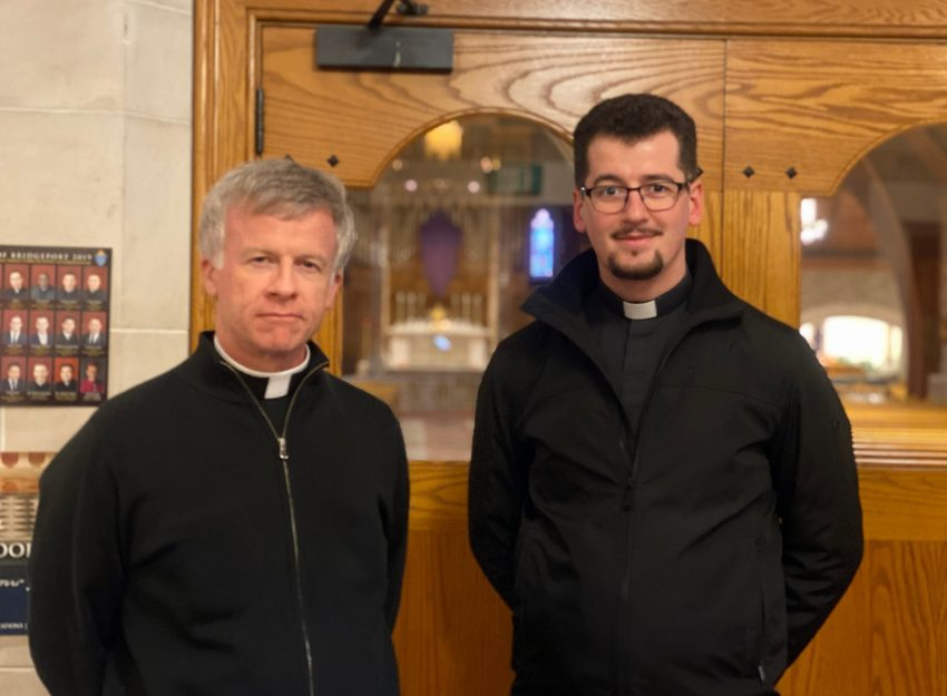 FATHER BRIAN GANNON AND FATHER FLAVIAN BEJAN