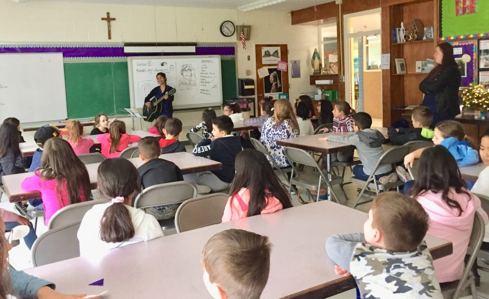 RELIGIOUS EDUCATION CLASS WITH CATECHISTS ST. THERESA CHURCH TRUMBULL