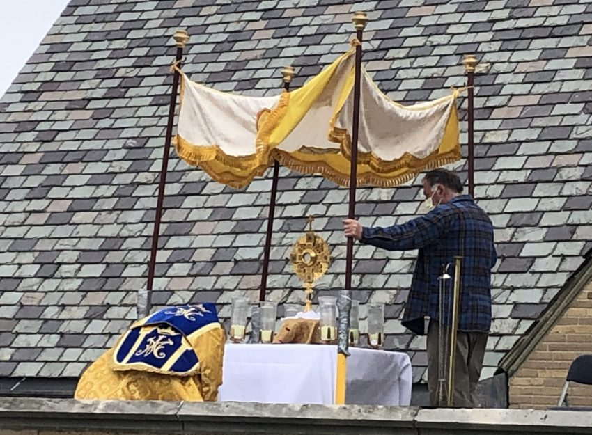 EASTER SUNDAY ADORATION FROM ST. THERESA ROOF TOP