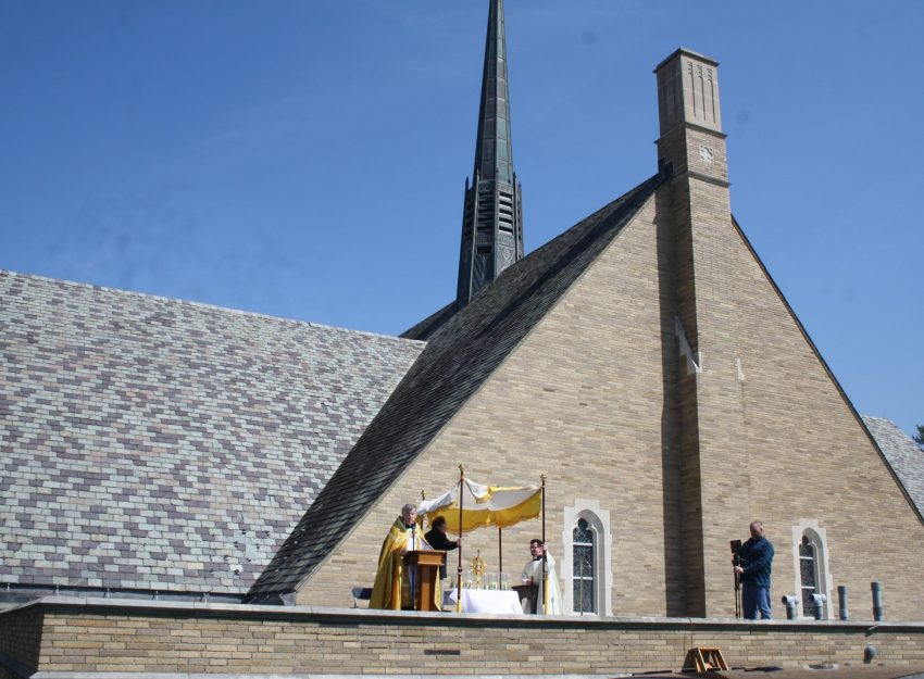 ROOFTOP AT ST. THERESA CHURCH DIVINE MERCY SUNDAY
