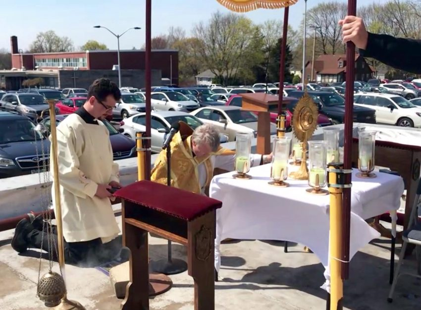 DIVINE MERCY SUNDAY ROOFTOP BENEDICTION AT ST. THERESA CHURCH