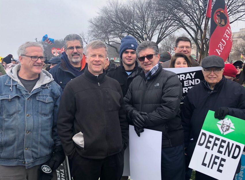 SONS OF SAINT JOSEPH ATTEND MARCH FOR LIFE